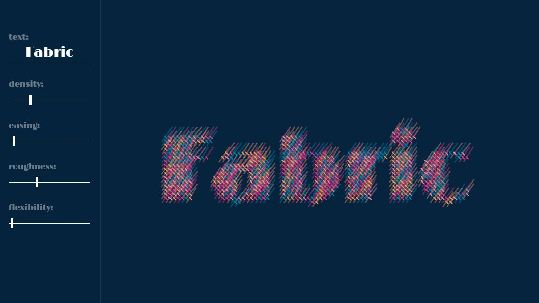 Fabric Typography Generator