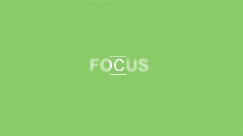 Focus text effect