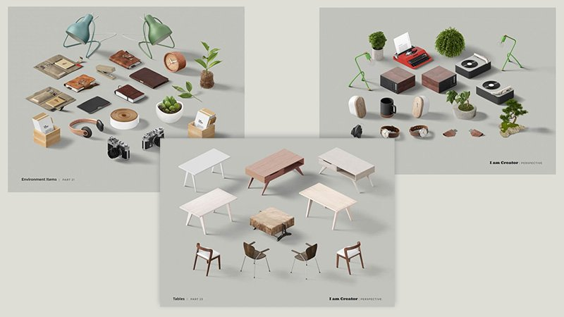 Environment Items Tables and Chairs