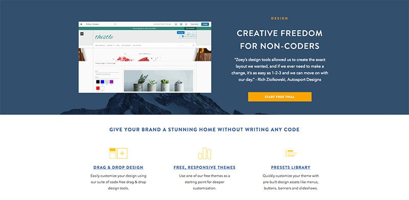 ​Meet Zoey, an Ecommerce Platform for Web Designers