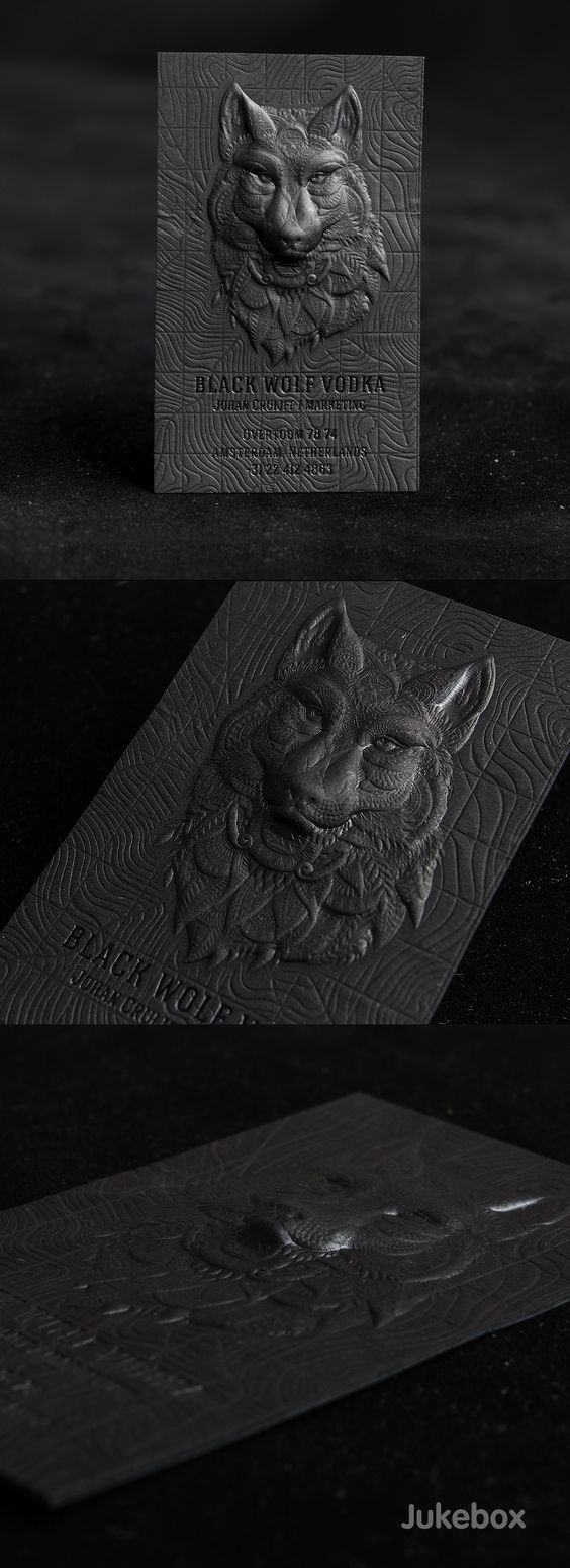 3D embossed business cards