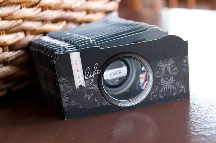 die cut camera business cards