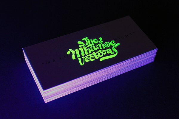 glow in the dark business cards
