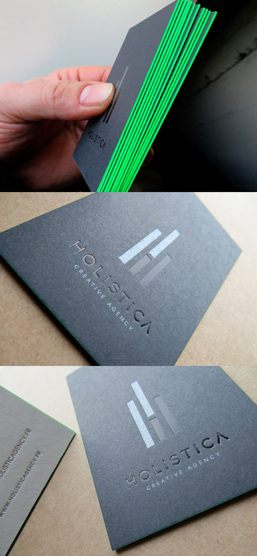 neon edge business cards
