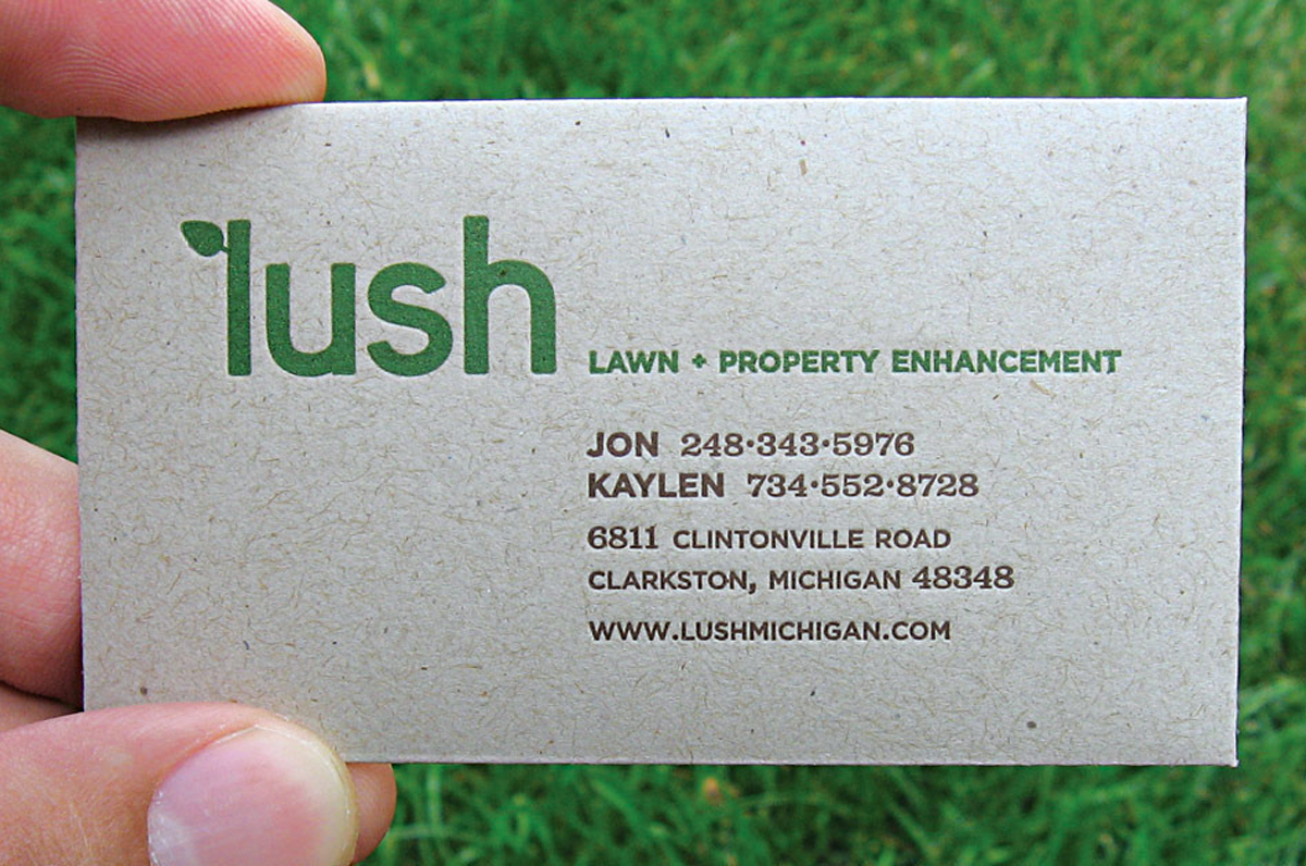 seed envelope business card