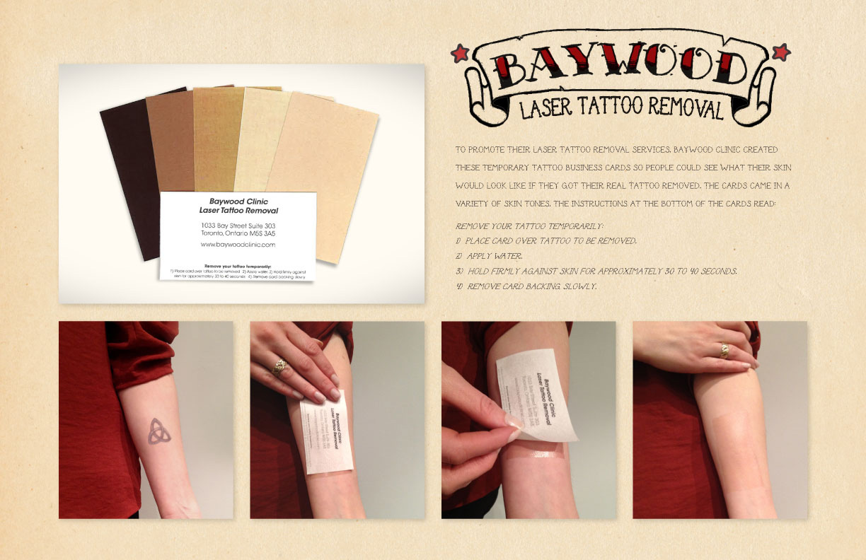 temporary tattoo business cards