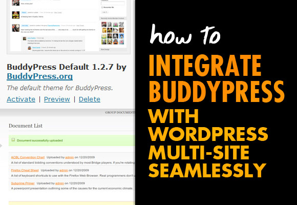 How to Integrate BuddyPress with WordPress Multi-site ...