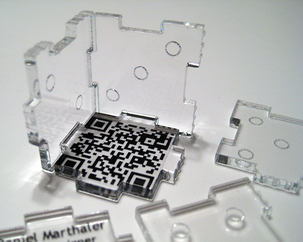 3D acrylic business card