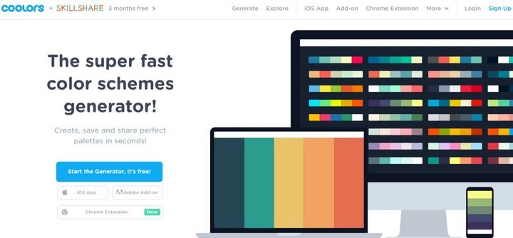 Web page color schemes generator coloring pages for Web page color palette