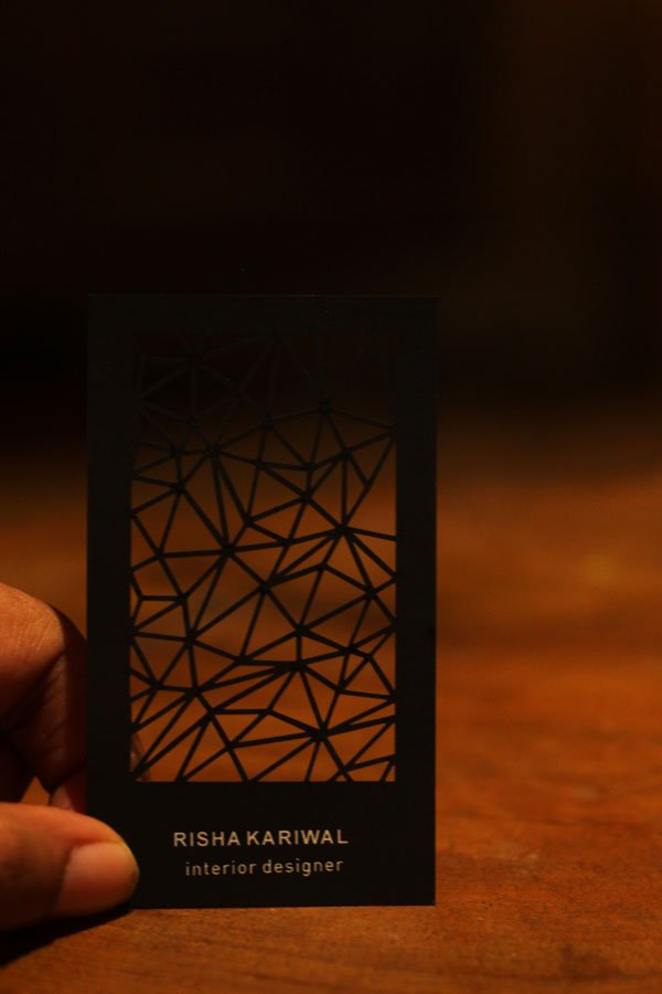 Laser Cut Geometric Business Card