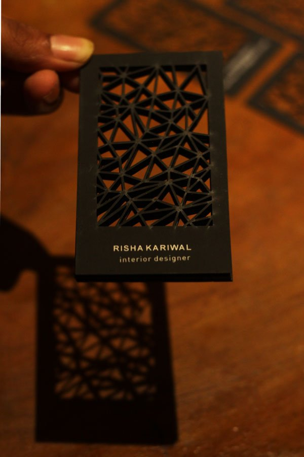 laser cut geometric business card - Unique Business Card Ideas