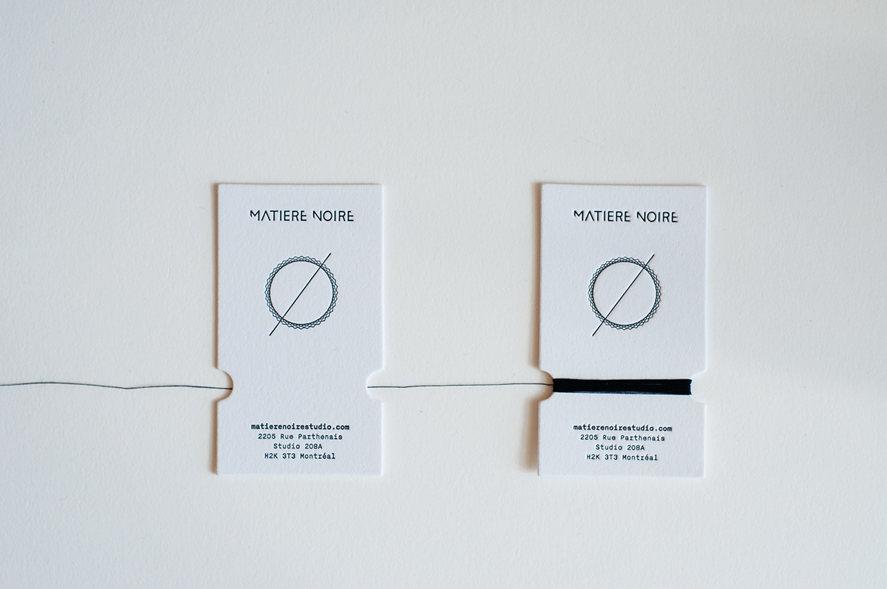 sewing thread business card
