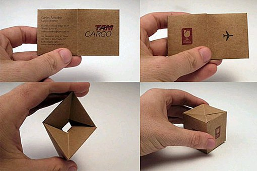 cargo box business card